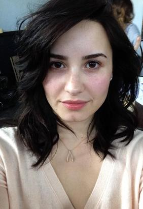 Demi Shows Natural Beauty