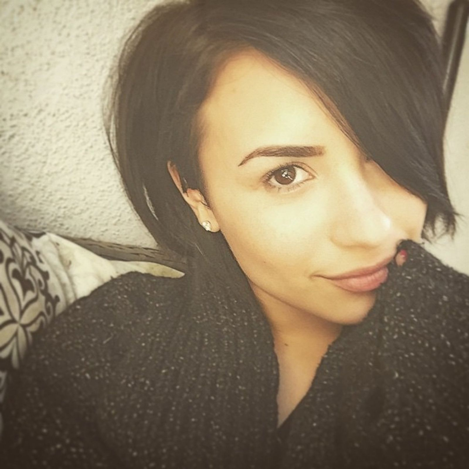 Demi Lovato Shares a No-Makeup Selfie Picture | Celebrities Without ...