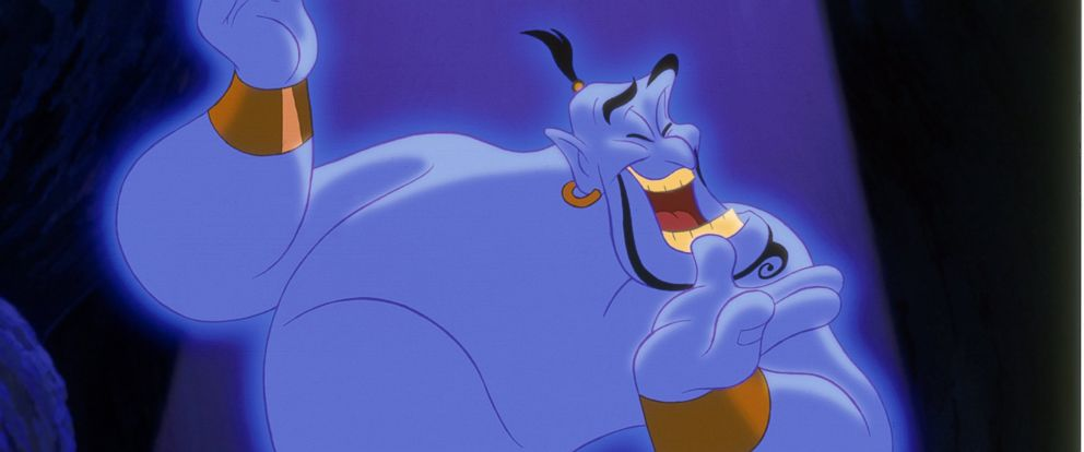 "PHOTO: The Genie from the 1992 Disney film, ""Aladdin"" was voiced by actor Robin Williams."