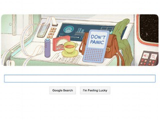 Don't Panic! Google Honors Douglas Adams