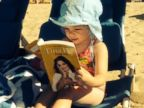 Drew Barrymores Daughter Enjoys a Beach Read
