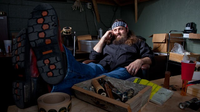 "PHOTO: Willie Robertson is shown in a scene from ""Duck Dynasty""."