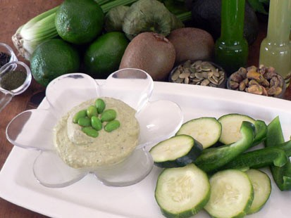 Diane Henderiks' edamame hummus is shown here.