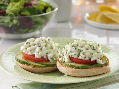 PHOTO: Thomas English Muffins egg white salad english muffin is shown here.