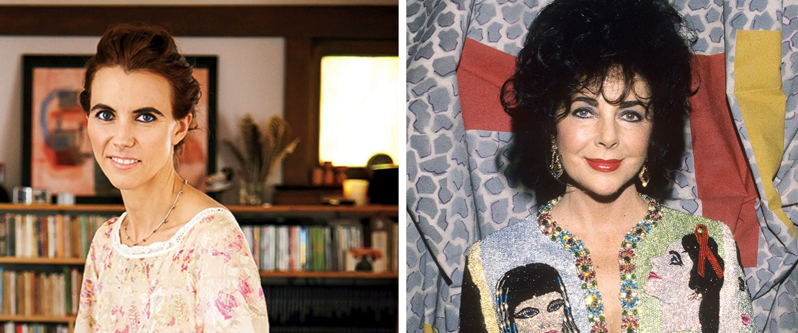 PHOTO: Naomi deLuce Wilding, seen left in a photo from the May 2014 issue of Glamour, is the granddaughter of Elizabeth Taylor, seen right in this Nov. 16, 1991 file photo.