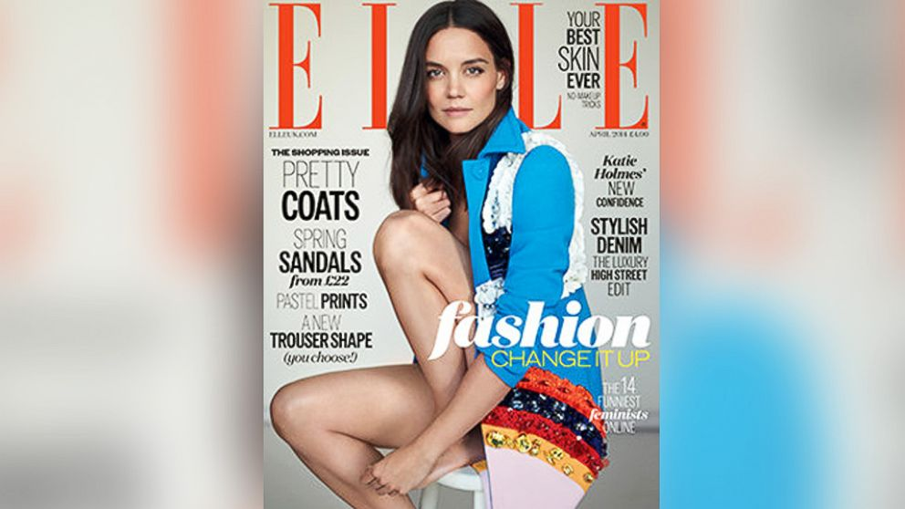 PHOTO: Katie Holmes appears on the cover of ELLE UKs April 2014 issue.