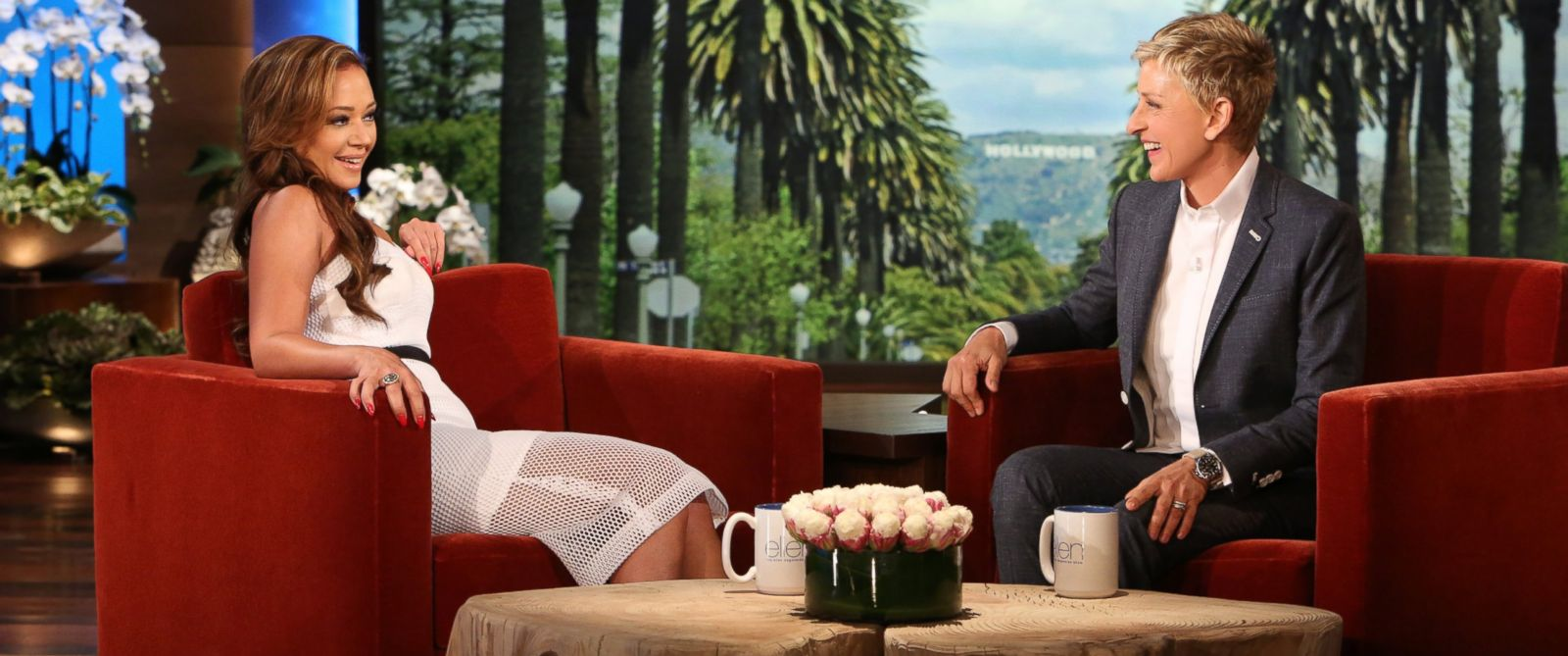 "PHOTO: Leah Remini appears on ""The Ellen DeGeneres Show"" on May 28, 2014."