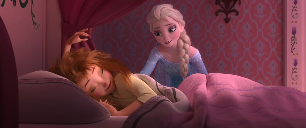 """PHOTO: Anna wakes up to a very special birthday party hosted by big sister Elsa in """"Frozen Fever."""""""