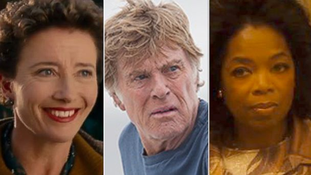 ht emma thompson robert redford oprah winfrey split sr 140116 16x9 608 Oprah, Redford, Thompson: Oscar Snubs and Surprises