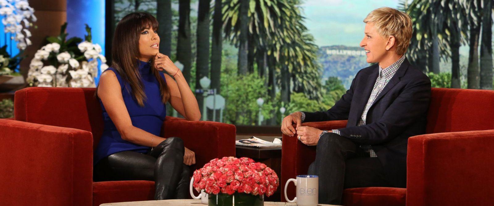 "PHOTO: Actress Eva Longoria makes an appearance on ""The Ellen DeGeneres Show"" on April 14, 2014."