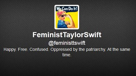 ht feminist taylor swift twitter jef 130618 wblog Twitter Account Casts Taylor Swift a Feminist