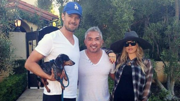 ht fergie josh duhamel cesar milan ll 130829 16x9 608 Fergie Gets Dog Ready for Baby with Dog Whisperer