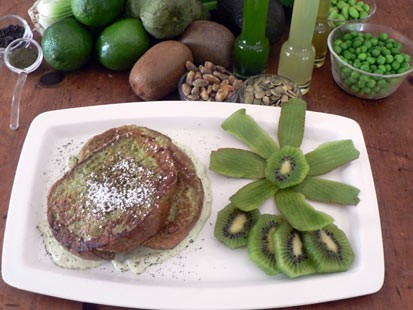 PHOTO: Diane Henderiks shamrock french toast is shown here.