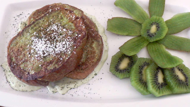 PHOTO: Diane Henderiks' shamrock french toast is shown here.