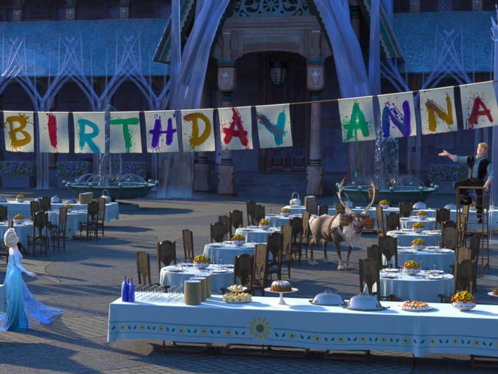 PHOTO: Its Annas birthday and Elsa and Kristoff are determined to give her the best celebration ever in Frozen Fever, a new animation short from Disney.