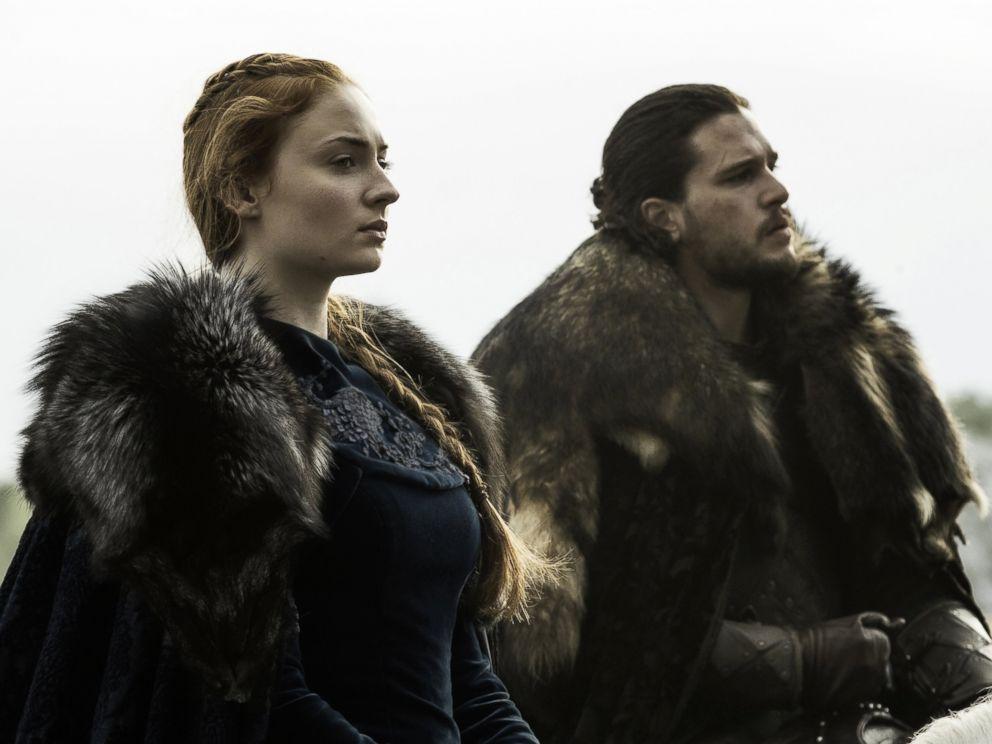 PHOTO: Game of thrones characters Sansa and Jon Snow on season 6, episode 9, June 19, 2016.