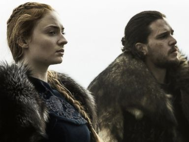 PHOTO: Game of thrones characters Sansa and Jon Snow on season 6, episode 9, June 19, 2016.