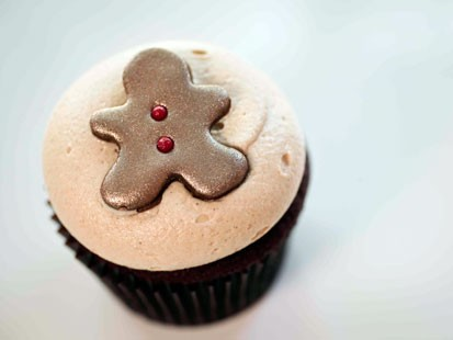 PHOTO: Georgetown cupcakes gingerbread cupcake is shown here.