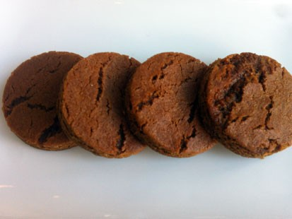 The ginger cookie recipe from Carmine Arroyo of ellabess is shown here.