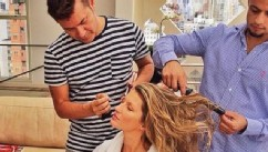 Gisele Breastfeeds Vivian While Getting Glam