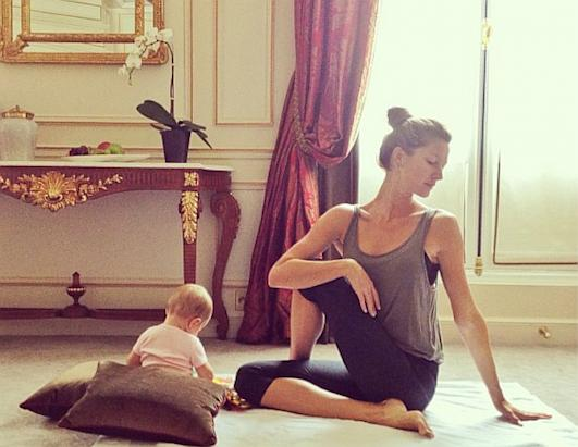 Celeb-Mommy and Baby Yoga