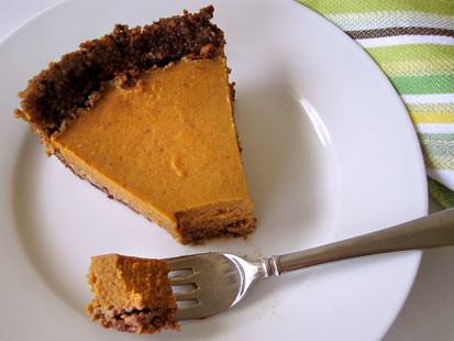 Amy Green's gluten-free pumpkin pie.