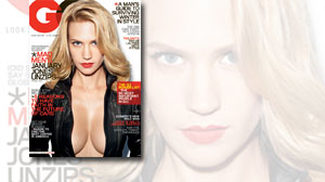Photo: January Jones on the cover of GQ