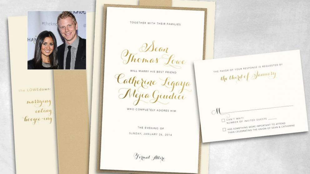 PHOTO: Sean and Catherines wedding invite