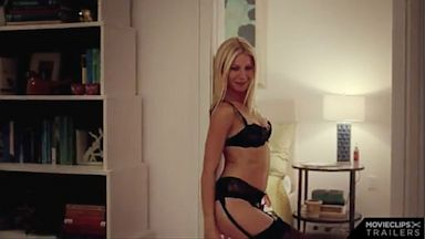 "PHOTO: Gwyneth Paltrow appears in saucy lingerie in the movie trailer ""Thanks for Sharing""."