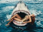 Rihanna Swims with Sharks for Harpers Bazaar