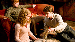 "PHOTO In this image released by Warner Bros., Emma Watson, center, Daniel Radcliffe, right, and Rupert Grint are shown in a scene from ""Harry Potter and the Half-Blood Prince."""