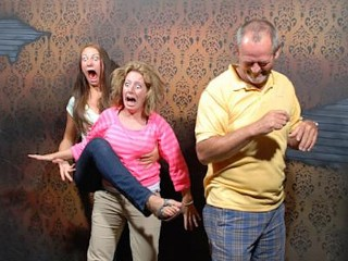 Photos: Haunted House Visitors Get Fright Of Their Lives