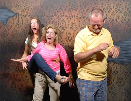 Haunted House Visitors Get Fright Of Their Lives