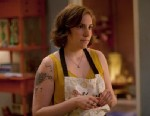 "PHOTO: Lena Dunham on the season 2 premiere of the HBO series, ""Girls""."