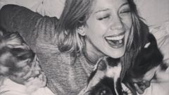 Hilary Duff Laughs With Her Three Furry Babies
