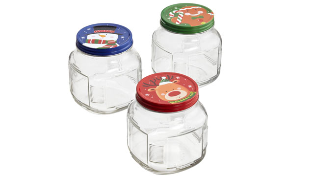 PHOTO: The holiday glass jars from The Container Store are shown.