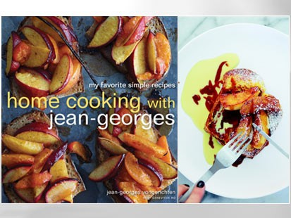 "PHOTO: French toast and roasted apples from ""Home Cooking with Jean-Georges,"" are shown."
