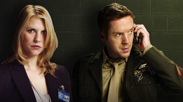 """PHOTO:Claire Danes and Damian Lewis star together in """"Homeland""""."""