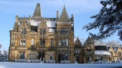 "PHOTO: The Ettington Park Hotel, in Stratford-Upon-Avon, Warwickshire offered its magnificent facade to create the macabre Hill House, from ""The Haunting,"" according to the hotels website."