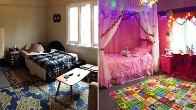 PHOTO: Roommates pulled huge prank by turning their friend's bedroom into a pink, princess wonderland.