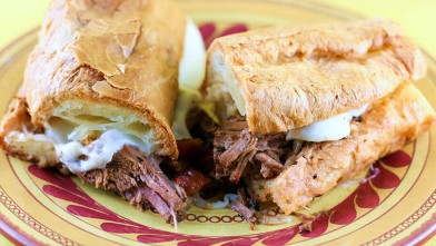 PHOTO: Stephanie O'Dea's Italian beef sandwich is shown here.