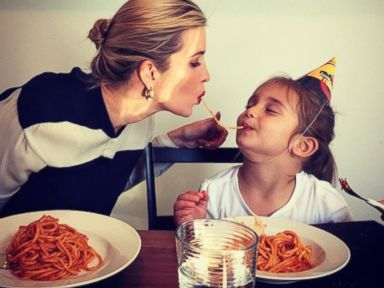 Ivanka Trump Shares Spaghetti With Her Daughter