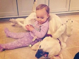 So Cute! Jack Osbournes Daughter Cuddles With Their Pup