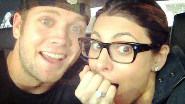 PHOTO: Jamie Lynn Sigler, seen with Cutter Dykstra, after he proposed, Jan. 29, 2013.