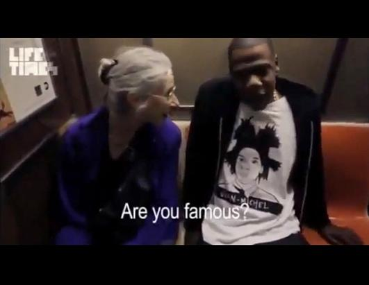 Music mogul Jay-Z takes mass transit to Brooklyn, where he was performing his eighth and final concert opening the new Barclays Center, for which he is a part owner. He happens to sit next to an elderly woman who has no idea who he is.