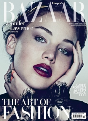 Jennifer Lawrence on the Cover of Harper's Bazaar U.K.