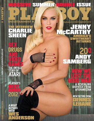 Jenny McCarthy poses nude for the July/August issue of Playboy.