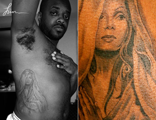 Tattooed Stars Make Their Mark Jermaine Dupri