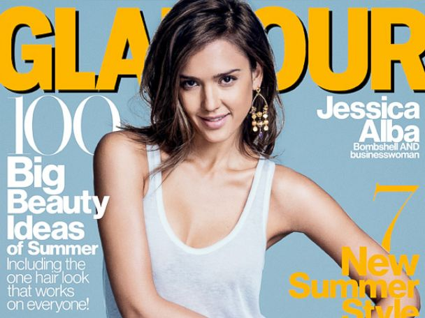 PHOTO: Jessica Alba appears on the cover of the June 2014 issue of Glamour.