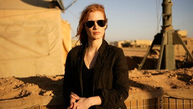 PHOTO: Jessica Chastain playing a member of the elite team of spies and military operatives stationed in a covert base overseas who secretly devoted themselves to finding Osama Bin Laden in Columbia Pictures' gripping new thriller, &quot;Zero Dark Thirty.&quot;